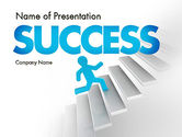 Careers/Industry: Running Upstairs PowerPoint Template #11458