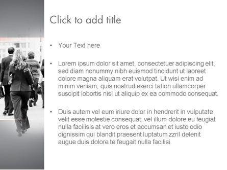 People Walking To Work PowerPoint Template, Slide 3, 11459, People — PoweredTemplate.com
