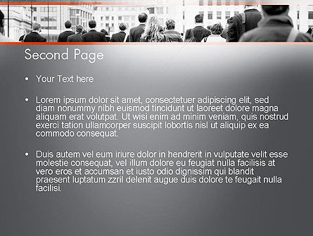 People Walking To Work PowerPoint Template, Slide 2, 11459, People — PoweredTemplate.com