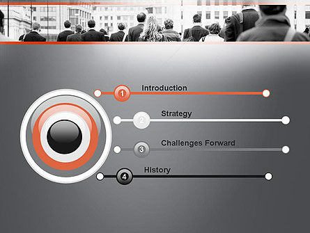 People Walking To Work PowerPoint Template, Slide 3, 11459, People — PoweredTemplate.com