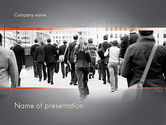 People: People Walking To Work PowerPoint Template #11459