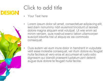Color Paint Splash PowerPoint Template, Slide 3, 11460, Art & Entertainment — PoweredTemplate.com