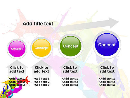 Color Paint Splash PowerPoint Template Slide 13