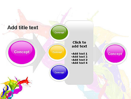 Color Paint Splash PowerPoint Template Slide 17