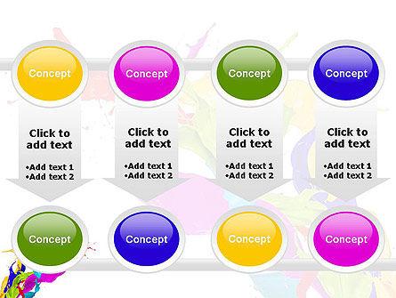 Color Paint Splash PowerPoint Template Slide 18
