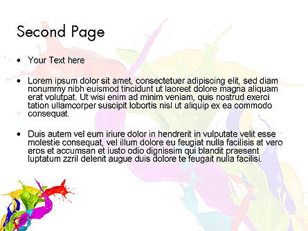 Color Paint Splash PowerPoint Template Slide 2