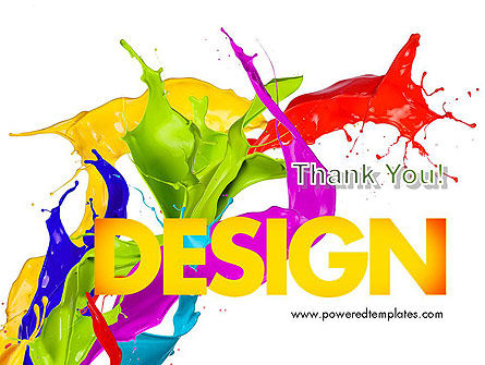 Color Paint Splash PowerPoint Template Slide 20