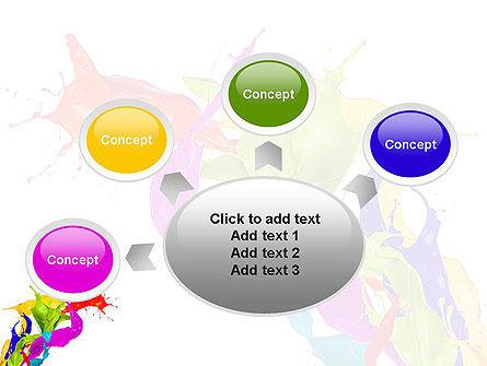 Color Paint Splash PowerPoint Template Slide 7