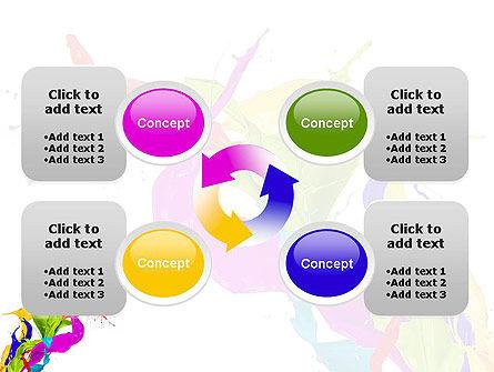 Color Paint Splash PowerPoint Template Slide 9