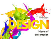 Art & Entertainment: Modèle PowerPoint de éclaboussure de peinture couleur #11460