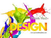 파워포인트 템플릿 - 색상 페인트 얼룩, 배경  11460  PoweredTemplate.com