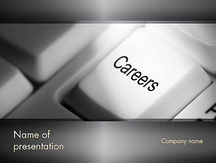 Careers Button PowerPoint Template, 11462, Careers/Industry — PoweredTemplate.com