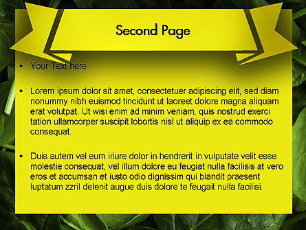 Spinach PowerPoint Template, Slide 2, 11463, Food & Beverage — PoweredTemplate.com