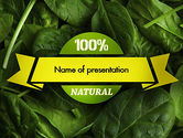Food & Beverage: Spinach PowerPoint Template #11463
