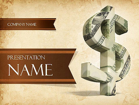 Dollar Sign PowerPoint Template, 11464, Financial/Accounting — PoweredTemplate.com