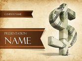 Financial/Accounting: Dollar Sign PowerPoint Template #11464