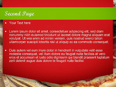 italian pizza powerpoint template, backgrounds | 11465, Modern powerpoint