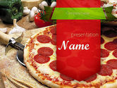 Food & Beverage: Italian Pizza PowerPoint Template #11465