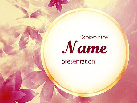 Holiday/Special Occasion: Romantic Theme PowerPoint Template #11466