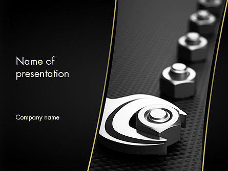 Utilities/Industrial: Screws PowerPoint Template #11468