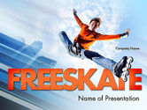 Sports: Roller Skate Freestyle PowerPoint Template #11469