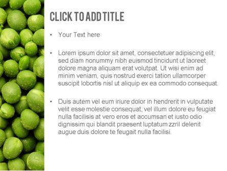 Green Peas PowerPoint Template, Slide 3, 11475, Food & Beverage — PoweredTemplate.com