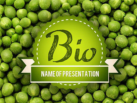 Green Peas PowerPoint Template, 11475, Food & Beverage — PoweredTemplate.com