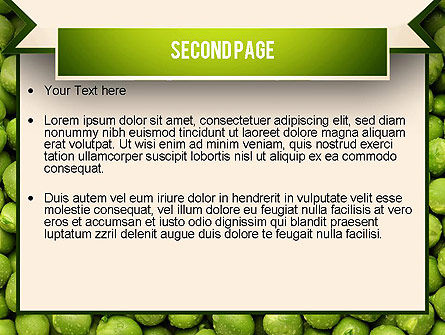 Green Peas PowerPoint Template, Slide 2, 11475, Food & Beverage — PoweredTemplate.com