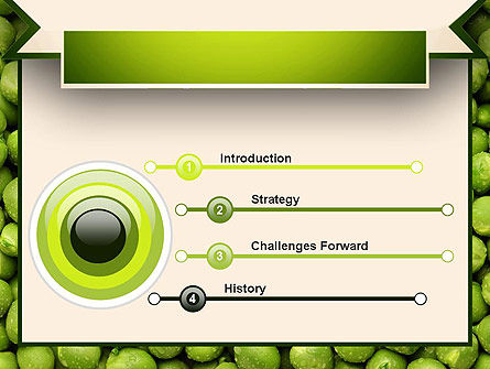 Green Peas PowerPoint Template Slide 3