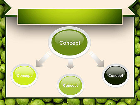 Green Peas PowerPoint Template, Slide 4, 11475, Food & Beverage — PoweredTemplate.com