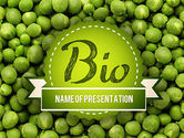 Food & Beverage: Green Peas PowerPoint Template #11475