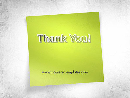 Green Sticky Note PowerPoint Template Slide 20