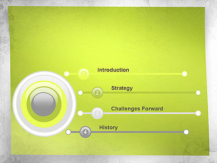 Green Sticky Note PowerPoint Template Slide 3