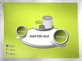 Green Sticky Note Powerpoint Template Backgrounds 11476