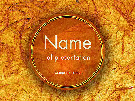 Orange Wall Texture PowerPoint Template