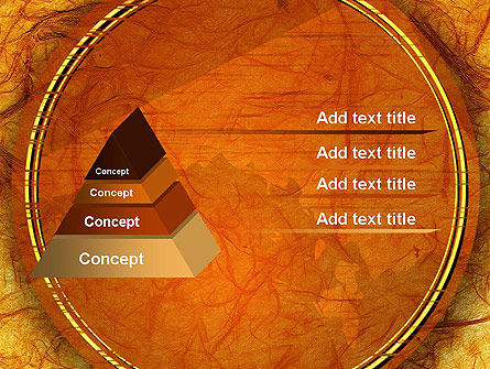Orange Wall Texture PowerPoint Template Slide 12