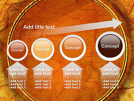 Orange Wall Texture PowerPoint Template Slide 13