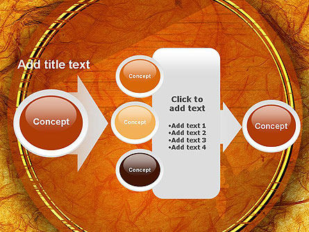 Orange Wall Texture PowerPoint Template Slide 17