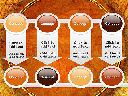 Orange Wall Texture PowerPoint Template Slide 18