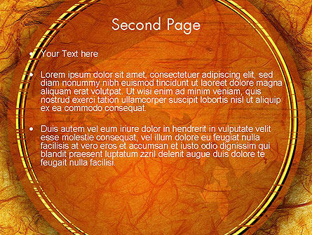Orange Wall Texture PowerPoint Template Slide 2