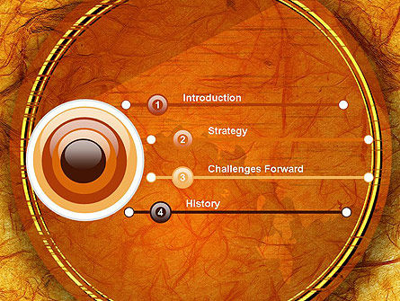 Orange Wall Texture PowerPoint Template Slide 3