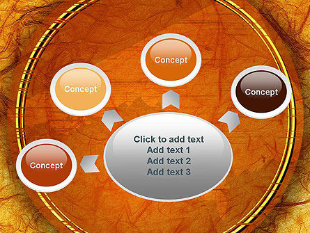 Orange Wall Texture PowerPoint Template Slide 7