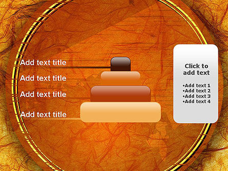 Orange Wall Texture PowerPoint Template Slide 8