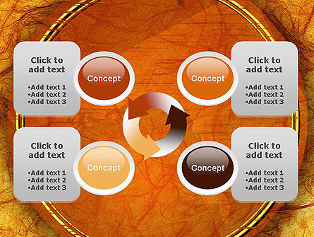 Orange Wall Texture PowerPoint Template Slide 9
