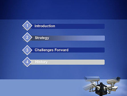 Surveillance Cameras PowerPoint Template, Slide 3, 11478, Careers/Industry — PoweredTemplate.com
