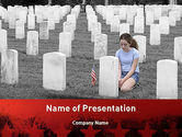 Religious/Spiritual: Honoring A Fallen Soldier PowerPoint Template #11479