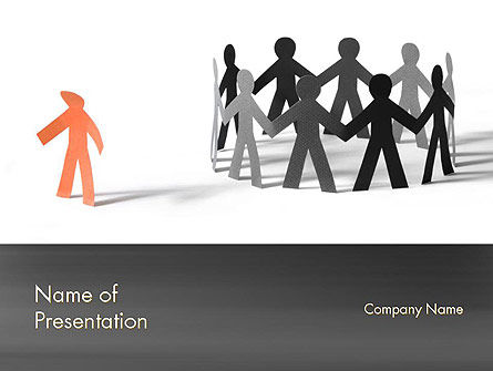 Outcast Person PowerPoint Template, 11480, General — PoweredTemplate.com