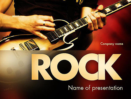Art & Entertainment: Rock Guitar PowerPoint Template #11481