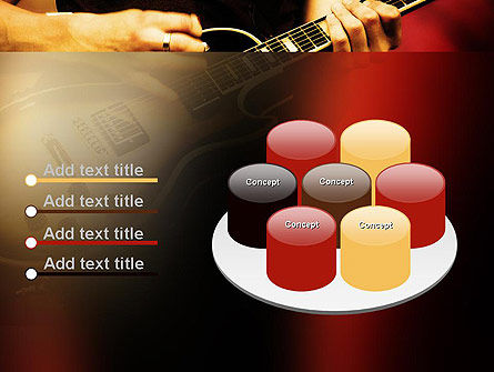 Rock Guitar PowerPoint Template Slide 12
