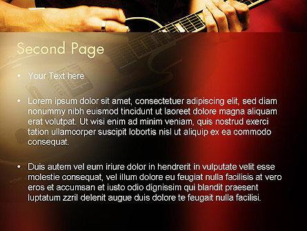 Rock Guitar PowerPoint Template, Slide 2, 11481, Art & Entertainment — PoweredTemplate.com